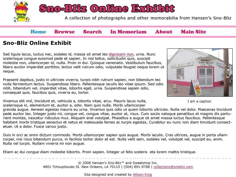 Online Exhibit Mockup v1