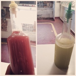 Sweet Creole Tomato and Freshly Juiced Pineapple w/ Cilantro