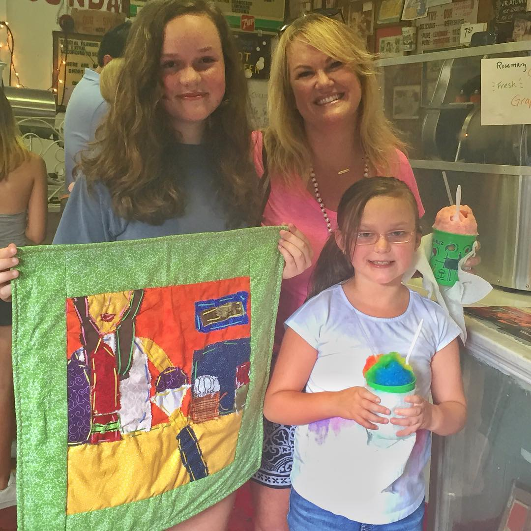 If you don't know, now you know…we have the BEST fans! @_e_rb & @jlovellbruner took their sweet memories of Ashley and Hansen's Sno-Bliz and turned it into a beautiful quilted panel.