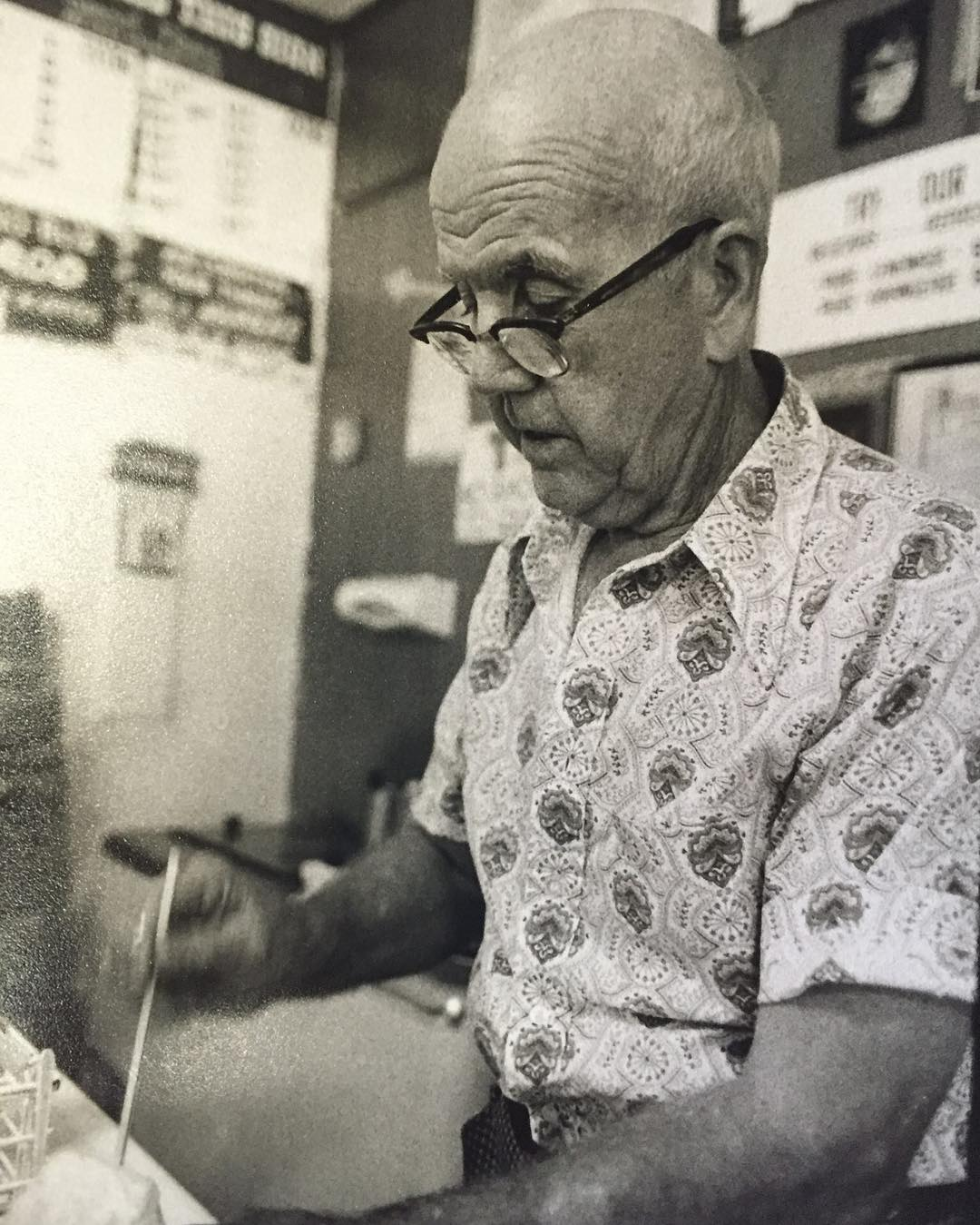 """Happy Birthday! To the Man with the Air-Conditioned Tummy! Thank you making life so fun! Miss you all the time."" – Ashley Hansen On behalf of the entire Hansen's Sno-Bliz crew, a happiest birthday to the late, truly great Mr. Ernest Hansen!"