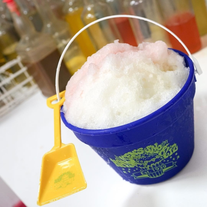 Sometimes it's go big or go home! Don't show up to your shindig empty-handed. A gallon Sno-Bliz brings makes an instant party, and you a beloved guest…shovel included! No advance notice required to order.