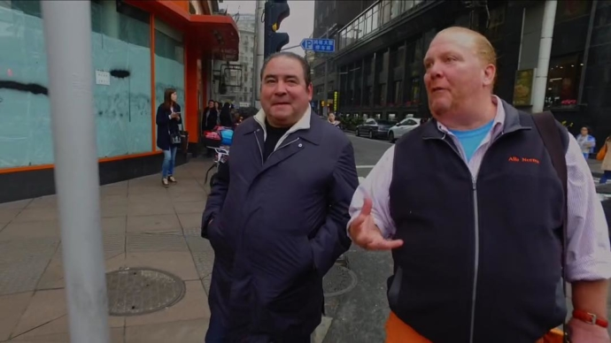 The world is truly a small place! Be sure to catch @mariobatali on the streets of Shanghai on Episode 2 of Eat the World with @emeril on @amazonvideo as two of our favorite chefs discuss Hansen's @snobliz! Hey Chef, you gotta bring Batali next time!