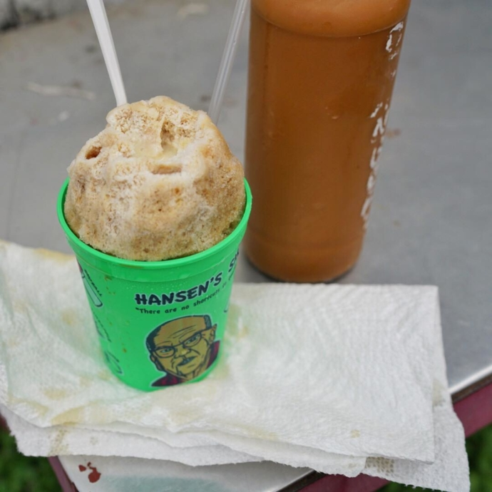 Need a pick-me-up? Café Sno-Lait is made with real @french_market_coffee & chicory, and is best with a layer (or two!) of condensed milk and the stuff of caffeinated dreams!