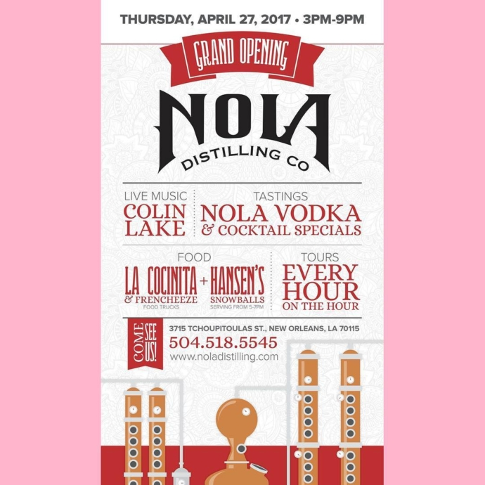 Join us as we celebrate the grand opening of @noladistilling today, just down the street on Tchoupitoulas. We're serving snoballs there from 5-7 pm! We're still open all day at the stand, too, so you can get your Hansen's fix in either place, or both, if that's how you roll! It's gonna be a great party, won't you join?!