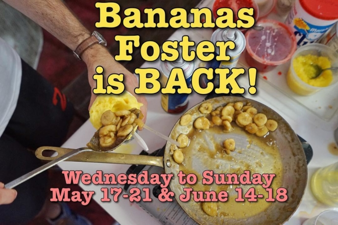 Testing…testing…is this thing on?! 🎙This week and the week of Father's Day are our next two Bananas Foster special dates: the only time you can get this warm, buttery, gooey, vanilla topping of goodness on your cold Sno-Bliz! ✌🏼💜🍌🍧