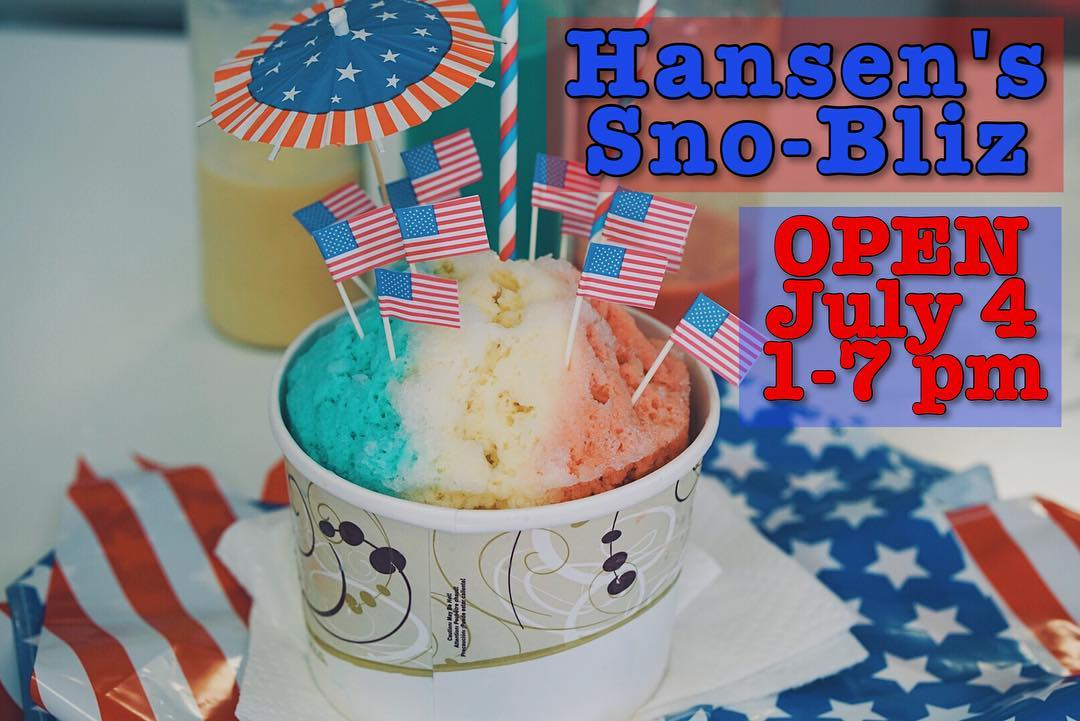 Happy Birthday, America! 🇺🇸We're open today & it's perfect snoball weather! 📷: @mauxfo