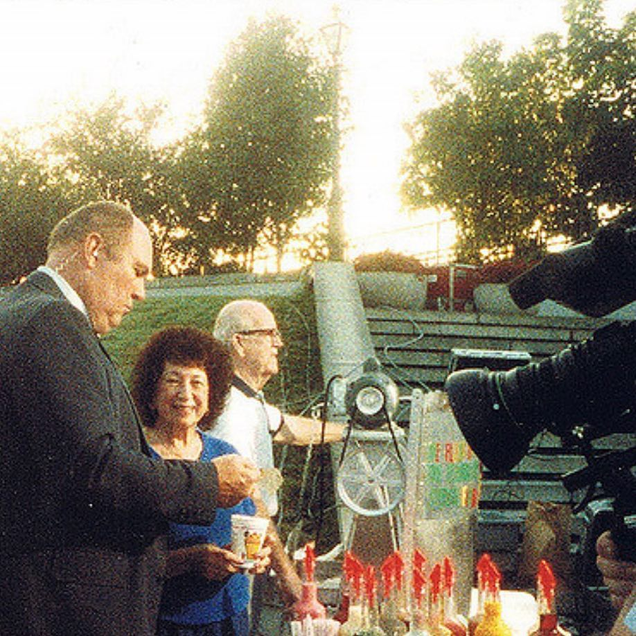 to Mary & Ernest Hansen making Sno-Bliz in Jackson Square with Willard Scott on the @todayshow in August, 1988!