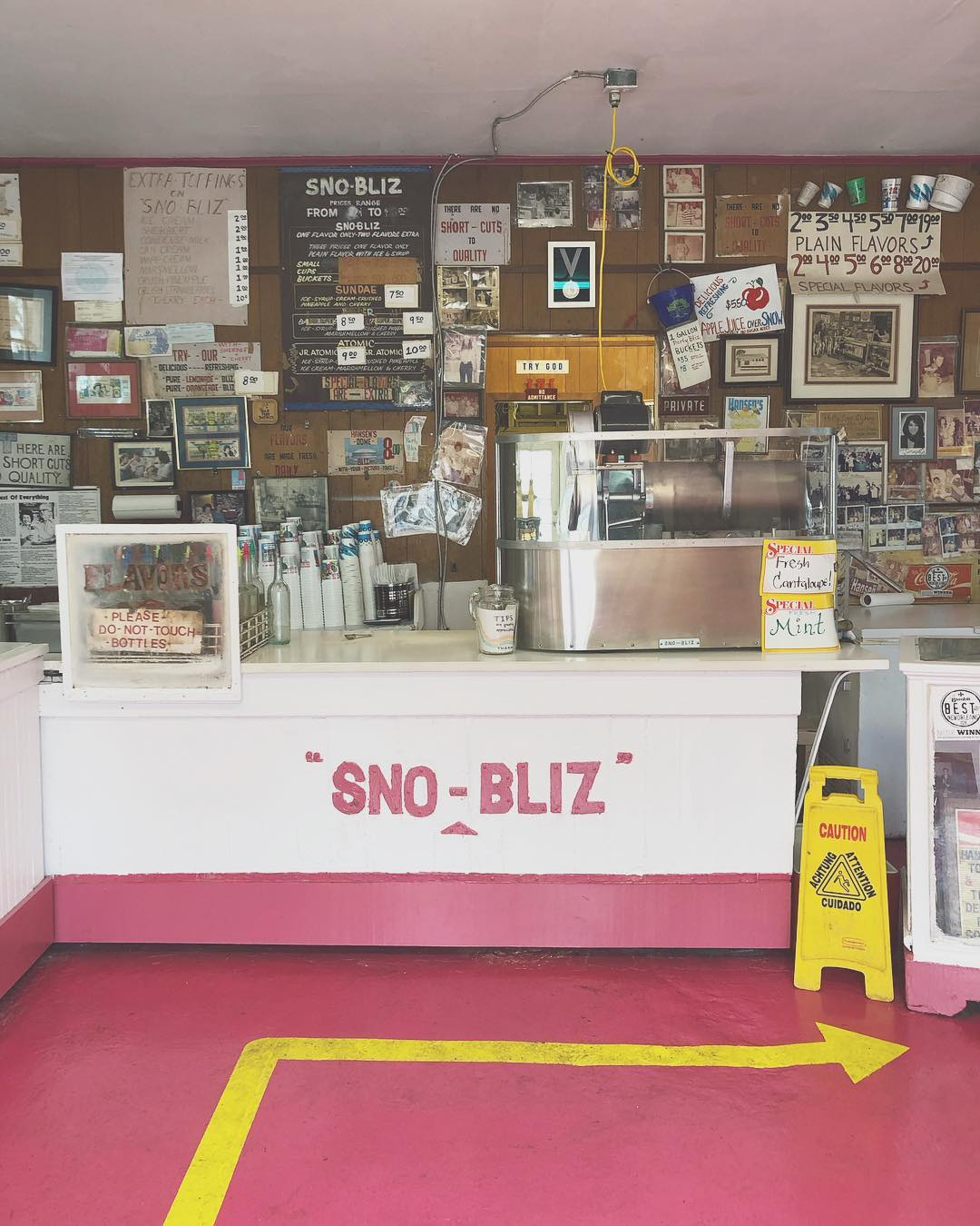 First Sunday of the 80th season! Come have a Sno-Bliz! We are open!