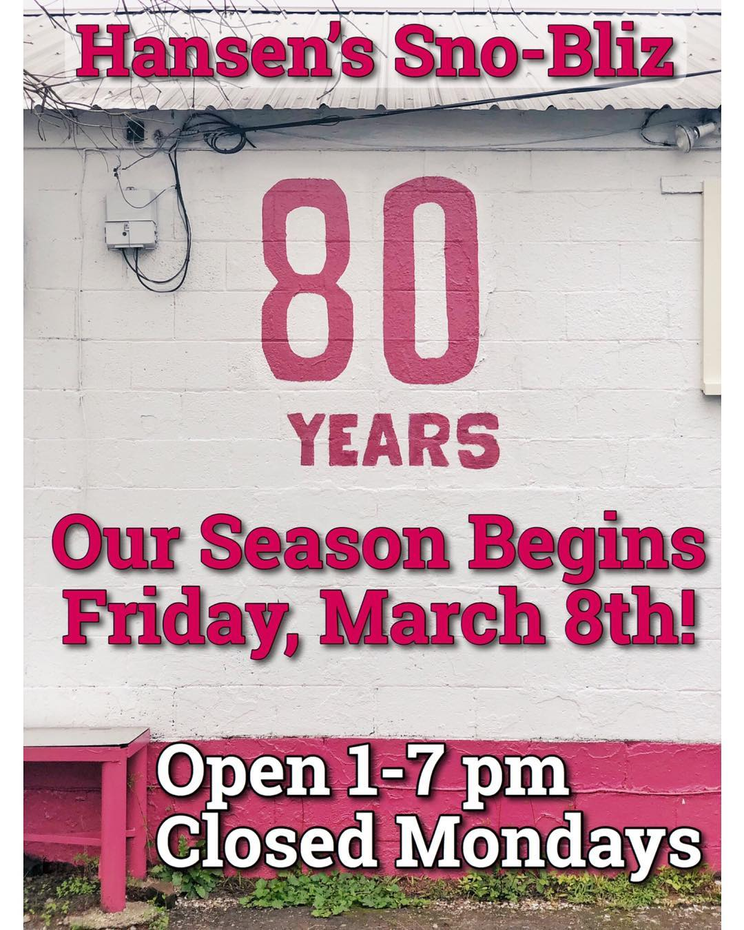 We can't wait to welcome you back to Tchoupitoulas Street starting tomorrow — this Friday — for our 80th anniversary season of snoballs!