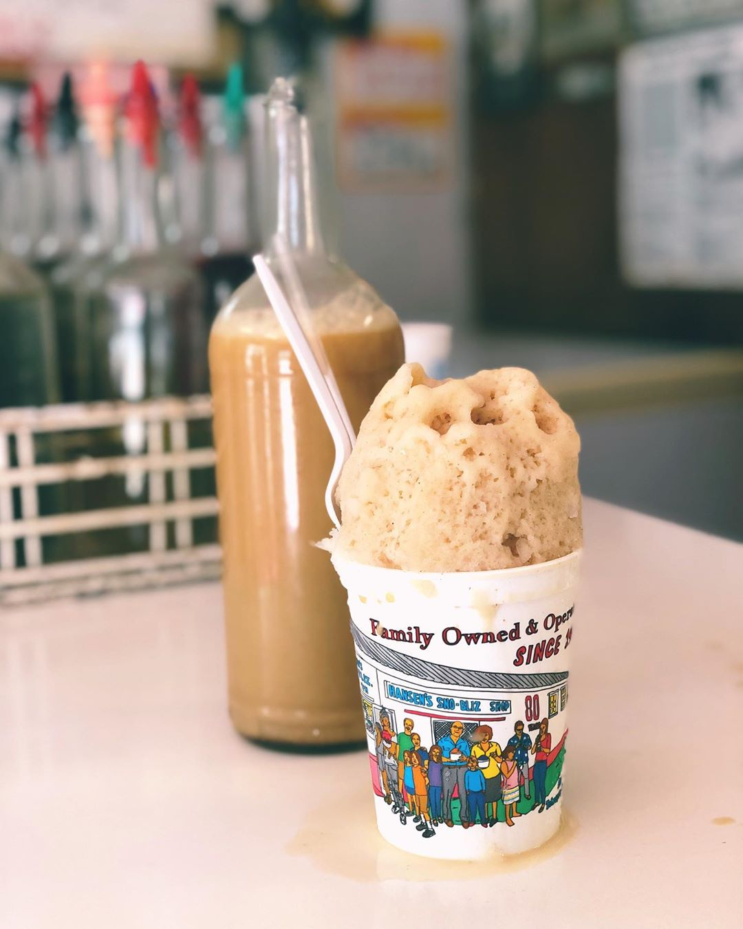 It may not exactly feel like fall yet but we've brought back Cream of Chai, our bold, house blended, caffeinated, real chai tea syrup with whole milk, just so we can all pretend it's cooler together! Enjoy it with Bananas Foster (Foster is served weekdays this fall) or as a Dirty Chai with a pour over of caffeinated Café Sno-Lait syrup.